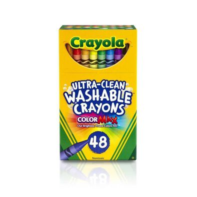 Crayola 48 Colours Ultra Clean Washable Crayons