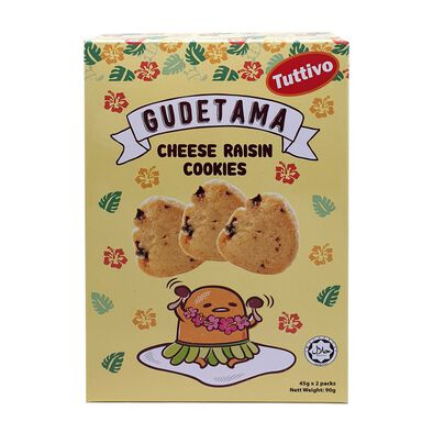 Gudetama Cheese Flavor Raisin Cookies 90g