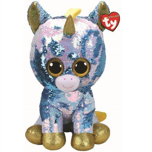 Ty Flippables 16 Inch Large Size Dazzle Blue Unicorn