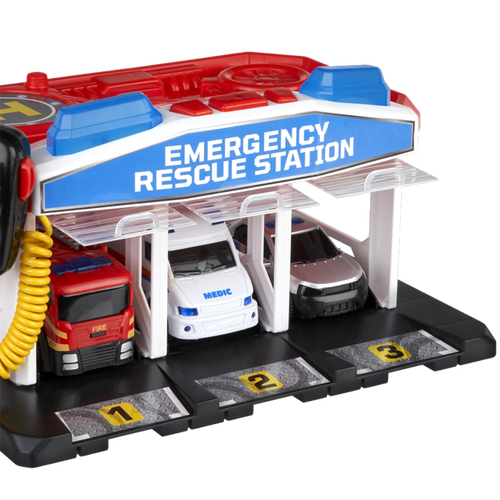 Speed City Emergency Rescue Station & Vehicles
