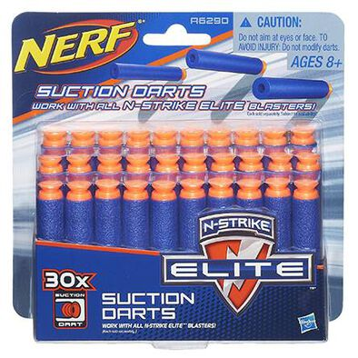NERF Darts N-Strike Elite Universal Suction 30-Pack