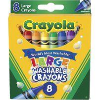 Crayola 8 Pack Large Washable Crayons