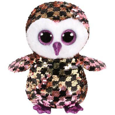 Ty Flippables Checks Sequin Multicoloured Owl