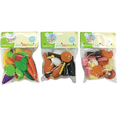 Just Like Home 30Pcs Playfood Set In Bag - Assorted