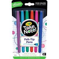 Crayola Washable Take Note Felt Tip Pens