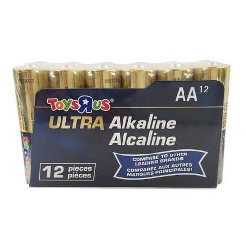 """Toys""""R""""Us Ultra Alkaline AA 12 Pieces"""