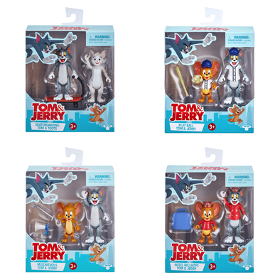 Tom & Jerry 3 Inch Figures 2 Pack - Assorted