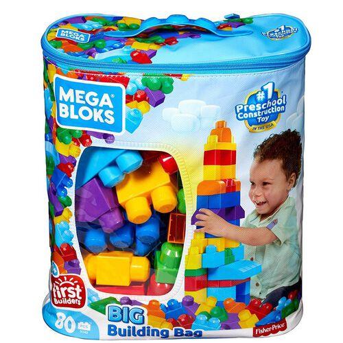 Mega Bloks Classic Big Building Bag 80 Pieces