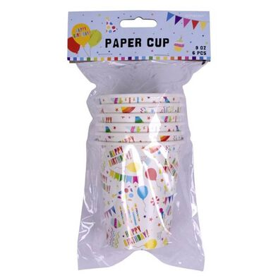 Amscan Paper Cups 9Oz 6 Pieces
