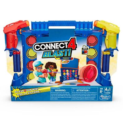 Connect 4 Blast! Game With NERF Blasters