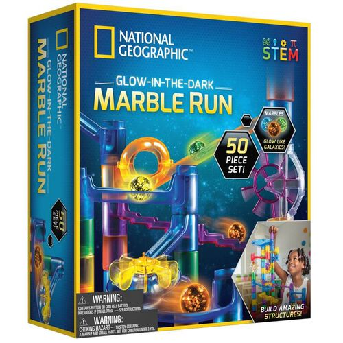 National Geographic 50 Pieces Glow-In-The-Dark Marble Run