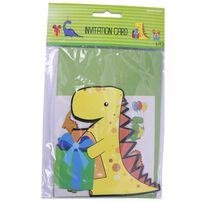 Amscan Invitation Card 6 Pieces (Dinosaurs)
