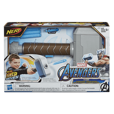 NERF Power Moves Marvel Avengers Thor Hammer Strike