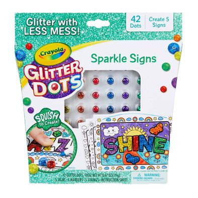 Crayola Glitter Dots Sparkle Signs