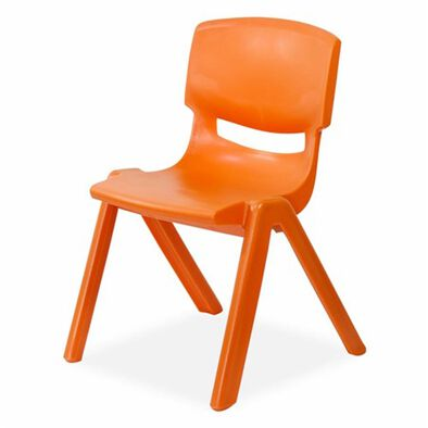 OCIE Deluxe Plastic Kid Chair Orange