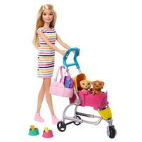 Barbie Stroll 'N Play Pups Playset