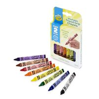 Crayola My First Crayola 8 Colours Washable Tripod Grip Crayons
