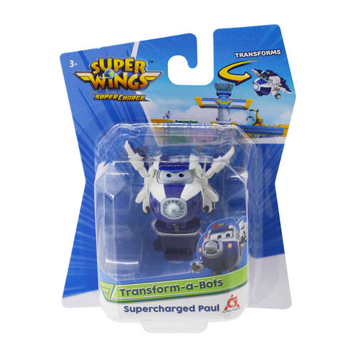 Super Wings Transform-A-Bots Supercharged Paul