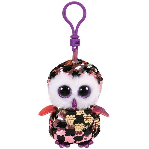 Ty Flippables Checks Multicoloured Owl Sequin Clip