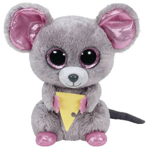 Ty Beanie Boos 6 Inch Squeaker The Mouse With Cheese