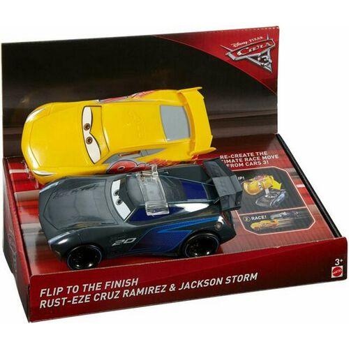 Disney Pixar Cars Flip To The Finish Rust-Eze Cruz Ramirez & Jackson Storm