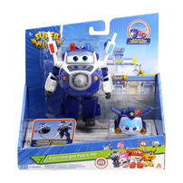 Super Wings 5 Inch Transforming Supercharged Paul & Super Pet Paul