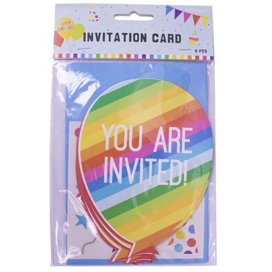Amscan Invitation Card 6 Pieces