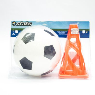 Stats -Soccer Ball With 2 Cones