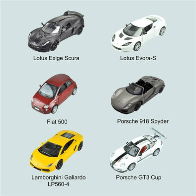 Fast Lane 1:32 Diecast Car With Light And Sound - Assorted