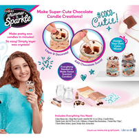 Cra-Z-Art Shimmer N Sparkle Make Your Own Scented Candles Chocolate