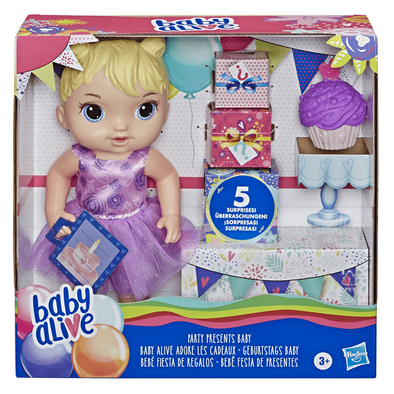 Baby Alive Party Presents Baby Blonde Hair Doll