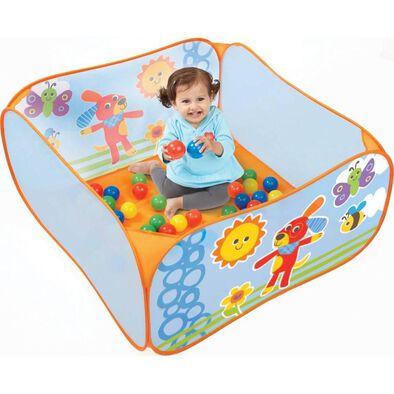 BRU Infant & Preschool Soft Slided Ball Pit with 45 Balls