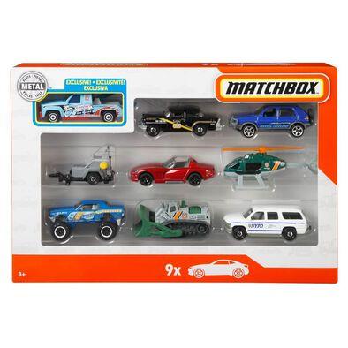 Matchbox 9 Car Gift Pack