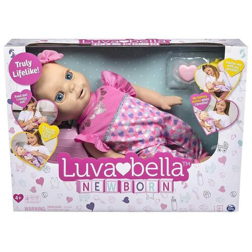 Luvabella Newborn Blonde Hair