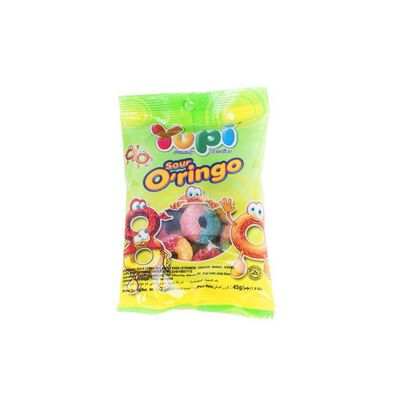 Yupi Gummy Candies - Sour O'Ringo 45G