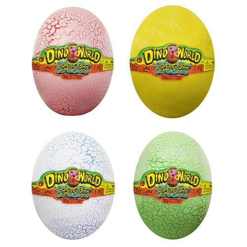 Dino World Light Up Egg - Assorted