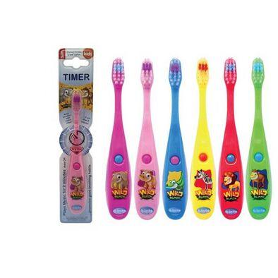 B Brite Brush Right Wild Bunch Musical Timer Toothbrush - Assorted