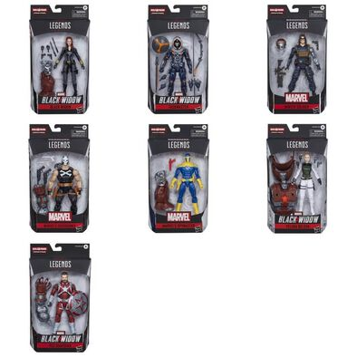 Marvel Black Widow Legends Series Figure Build-A-Figure Crimson Dynamo - Assorted
