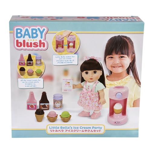 Baby Blush Little Bella's Ice Cream Party Doll Set