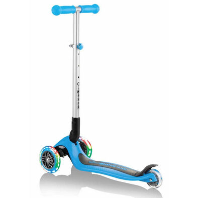 Globber Primo Foldable Lights Sky Blue Scooter