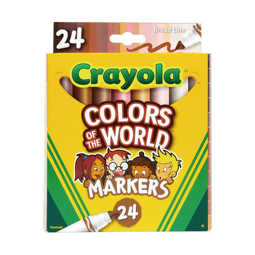 Crayola Colors Of The World 24 Count Broad Line Markers