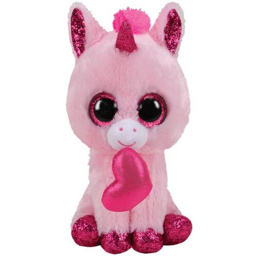 Ty Beanie Boos 13 Inch Medium Size Darling Pink Unicorn