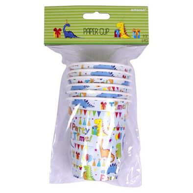 Amscan Paper Cups 9Oz 6 Pieces Dinosaurs