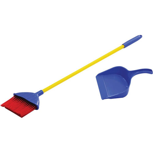 Just Like Home Angled Broom With Dust Pan