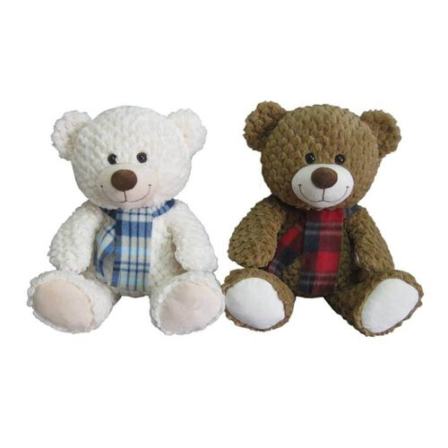 Animal Alley 15.5 Inch Bear With Scarf - Assorted