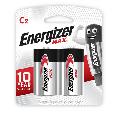 Energizer Max -Size C 2Pack Alkaline Batteries