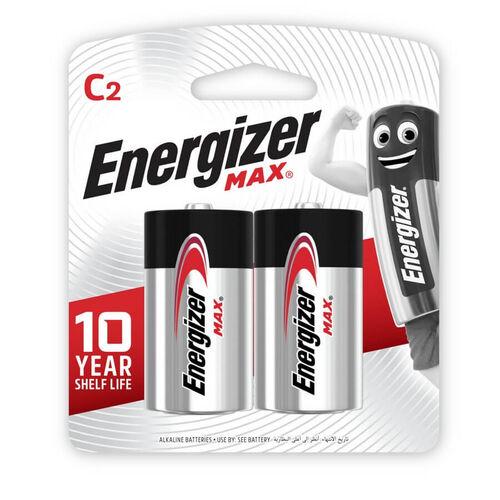 Energizer Max -Size C 2Pack Alkaline Batteries