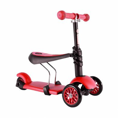 Yvolution Y Glider 3 In 1 (Black/Red)