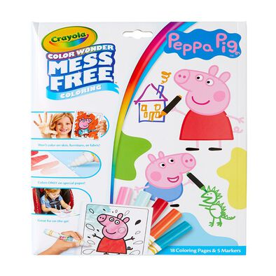 Crayola Peppa Pig Color Wonder Mess Free Coloring