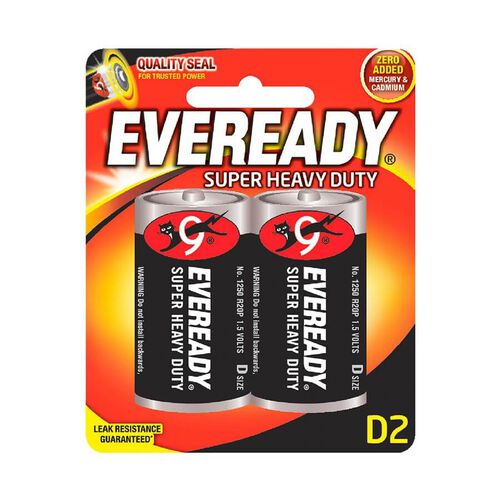 Eveready Super Heavy Duty Size D2